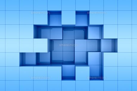 立方体の凹凸の模様 CGのイラスト素材 [FYI04873288]