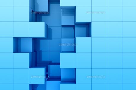 立方体の凹凸の模様 CGのイラスト素材 [FYI04873289]