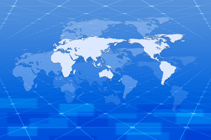 空間に浮かぶ世界地図 CGのイラスト素材 [FYI04873291]