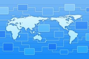 世界地図と回路図 CGのイラスト素材 [FYI04873297]