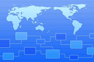 世界地図と回路図 CGのイラスト素材 [FYI04873298]