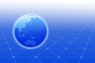地球と線の模様と光 CGのイラスト素材 [FYI04873312]