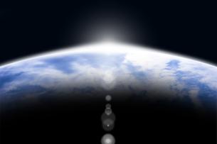 地球と光 CGのイラスト素材 [FYI04873315]