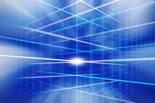 交差する線と光 CGのイラスト素材 [FYI04873322]