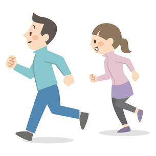 ジョギングをするカップルのイラスト素材 [FYI04873378]