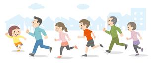 屋外を走る人々のイラスト素材 [FYI04873401]