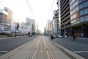 広島市の街並み 早朝の相生通りの写真素材 [FYI04874002]