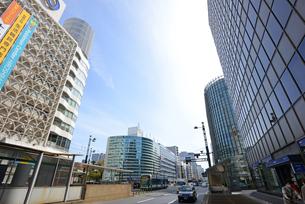 広島市紙屋町にて相生通りと街並みの写真素材 [FYI04874398]