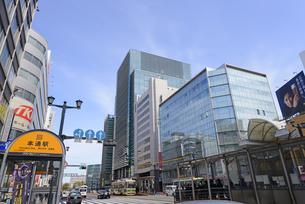 広島市鯉城通りの街角にてビジネス街の写真素材 [FYI04874433]