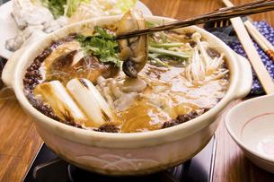 牡蠣の土手鍋の写真素材 [FYI04874457]