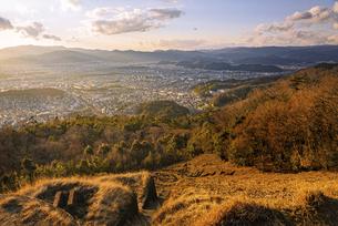 【京都府】大文字山からみる京都の都市風景の写真素材 [FYI04874568]