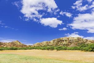 【ハワイ オアフ島】青空の下のダイヤモンドヘッドの写真素材 [FYI04874640]