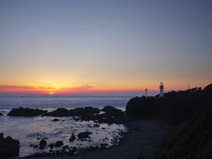 潮岬からの夕日の写真素材 [FYI04874857]