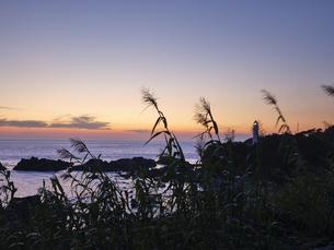 潮岬からの夕日の写真素材 [FYI04874861]