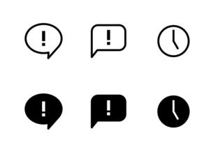 ウェブやアプリの吹き出しアイコンセットのイラスト素材 [FYI04874977]