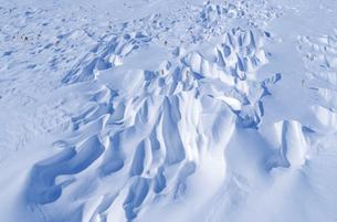 雪紋(北海道・野付半島)の写真素材 [FYI04875133]