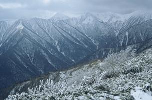 冬の日高山脈(北海道・芽室町)の写真素材 [FYI04875145]