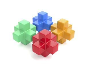 4つのキューブのイラスト素材 [FYI04876339]