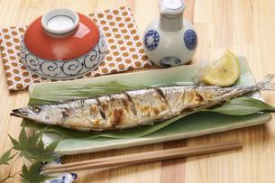秋刀魚の塩焼きの写真素材 [FYI04876603]