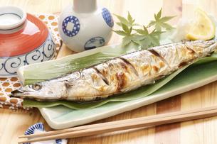 秋刀魚の塩焼きの写真素材 [FYI04876604]