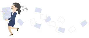 書類を運ぶビジネスウーマンのイラスト素材 [FYI04877087]