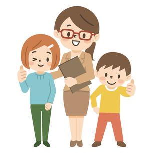 塾講師と子供たちのイラスト素材 [FYI04877108]