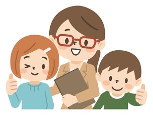 塾講師と子供たちのイラスト素材 [FYI04877117]