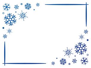 雪の結晶のフレーム背景のイラスト素材 [FYI04877119]
