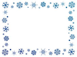 雪の結晶のフレーム背景のイラスト素材 [FYI04877120]