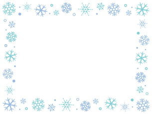 雪の結晶のフレーム背景のイラスト素材 [FYI04877121]