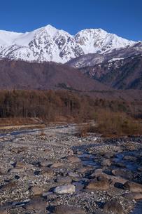 残雪の杓子岳と白馬鑓ヶ岳の写真素材 [FYI04877199]