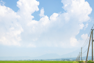 夏の阿蘇平野の写真素材 [FYI04877252]