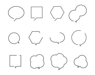 ふきだしのデザインセットのイラスト素材 [FYI04877584]