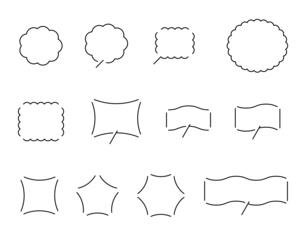 ふきだしのデザインセットのイラスト素材 [FYI04877585]