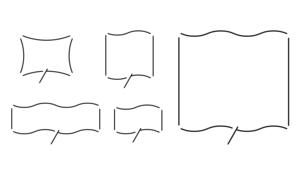 波形のふきだしデザインセットのイラスト素材 [FYI04877586]