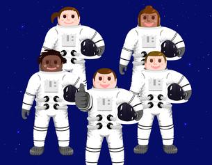 Five astronautsのイラスト素材 [FYI04877602]