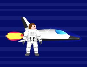 Astronaut with spacecraftのイラスト素材 [FYI04877633]