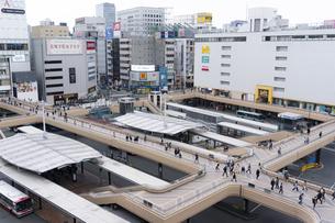 仙台駅前の写真素材 [FYI04877766]