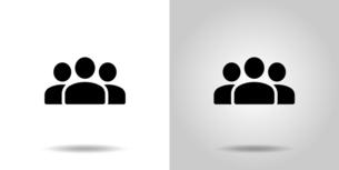 人々のグループアイコンのイラスト素材 [FYI04877878]