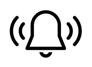 ベルの音のアイコンのイラスト素材 [FYI04877880]