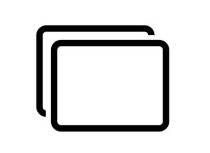 スクリーンのアイコンのイラスト素材 [FYI04877881]