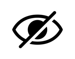 目 非表示のアイコンのイラスト素材 [FYI04877883]