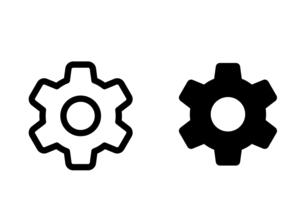2つの歯車 アイコンイラストのイラスト素材 [FYI04877886]
