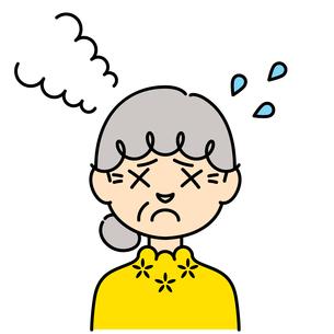 困った表情の女性【高齢者,カラー】のイラスト素材 [FYI04877962]