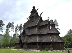 ノルウェー スターブ教会の写真素材 [FYI04879132]