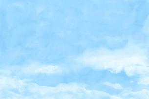 淡い空の水彩画のイラスト素材 [FYI04879847]