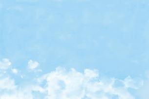 淡い空の水彩画のイラスト素材 [FYI04879848]