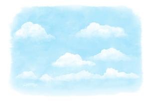 淡い空の水彩画のイラスト素材 [FYI04879849]