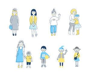 さまざまな年齢の子どもたち セットのイラスト素材 [FYI04879981]