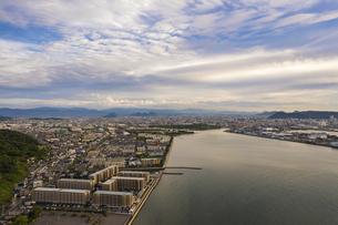 【香川県】高松市の街並み ドローン 空撮 の写真素材 [FYI04880087]